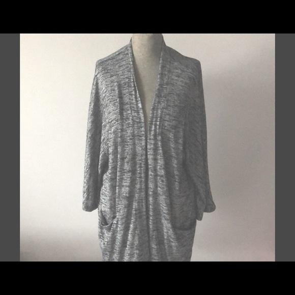 Aritzia Wilfred free large cardigan grey heather